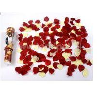 WYSTRZAŁOWE KONFETTI- róże bordo i kremowe serca