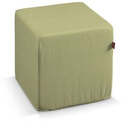 Dekoria Pokrowiec na pufę kostke, oliwkowy, kostka 40 × 40 × 40 cm, Wyprzedaż do -50%