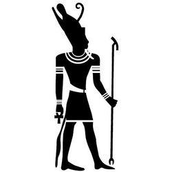 Szablon malarski z tworzywa, wielorazowy, wzór etniczny 25 - egipski bóg atum marki Szabloneria