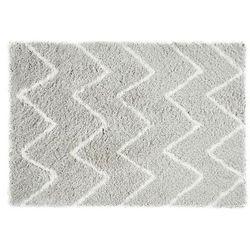 Dywan shaggy dresde – poliester – kolor biało-szary – 160 × 230 cm marki Vente-unique