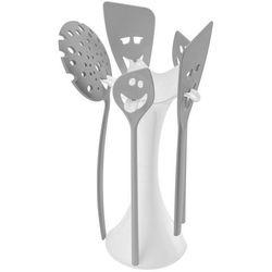 Koziol Stojak z akcesoriami meeting point biały z szarymi narzędziami