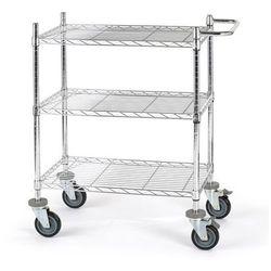 Unbekannt Wózek stołowy z kratą drucianą, z półkami, dł. x szer. x wys. 760x460x1025 mm, 3