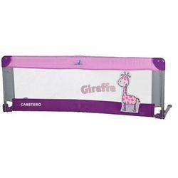 Caretero Barierka do łóżeczka dziecięcego Safari purple