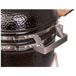 Grill ceramiczny Monolith JUNIOR, czarny lub bordowy, ruszt 33 cm ze sklepu FOODLOVERS.PL