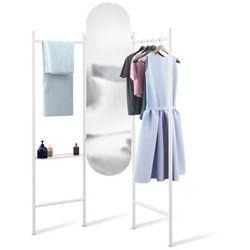 Wolnostojąca garderoba z lustrem Umbra Vala white, 1009611-660-PAL