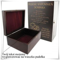 Drewniana szkatułka prezentowa 28.5cm x 21cm x 11.5cm z możlwością zamieszczenia graweru, towar z kategori