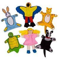 Bigjigs toys Moi mali przyjaciele - pacynki na palec