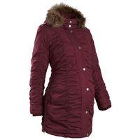 Zimowa kurtka ciążowa  czerwony klonowy, Bonprix, 34-50