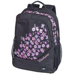 Plecak szkolno-sportowy Venturio czarny, towar z kategorii: Tornistry i plecaki