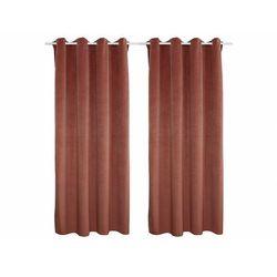 Vente-unique Zestaw 2 zasłon luxe – welur poliestrowy – 140 × 260 cm – kolor różowy