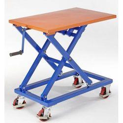 Unbekannt Trzpieniowy wózek podnośnikowy,szkielet w kolorze niebieskim sygnałowym