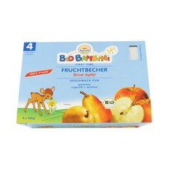 4 mc Przecier owocowy gruszka - jabłko bezglutenowy BIO 4 x 100 g - SUN BABY - produkt z kategorii- Gruszki i