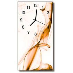 Zegar szklany pionowy sztuka abstrakcja linie biały marki Tulup.pl