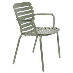 Zuiver krzesło ogrodowe z podłokietnikami vondel zielone 1700005 (8718548055513)