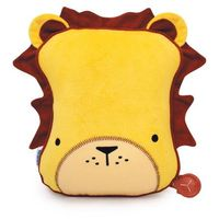 snoozihedz travel pillow and blanket - leeroy the lion - yellow marki Trunki