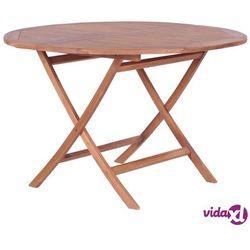 składany stół jadalniany z litego drewna tekowego, 120x75 cm marki Vidaxl