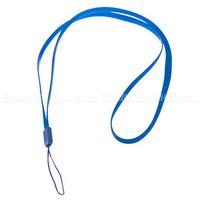 Silikonowa smycz do telefonu na rękę szyję 33,5cm niebieska ciemna - niebieski ciemny wyprodukowany przez H