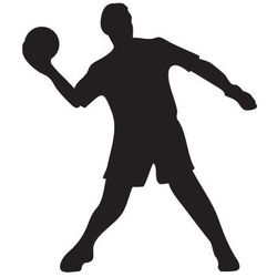 Szablon malarski, wielorazowy, wzór sport 6 - piłkarz z piłką marki Szabloneria