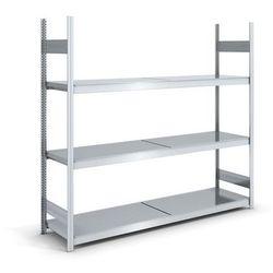 Regał wtykowy o dużej pojemności z półkami stalowymi,wys. 2000 mm, szer. półki 2000 mm marki Hofe