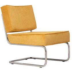 Zuiver  krzesło lounge ridge rib żółte 3100013