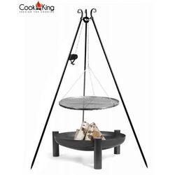 Zestaw 3w1 grill z kołowrotkiem stal czarna 70cm + palenisko palma 80cm marki Cook&king