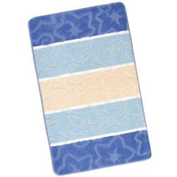 dywanik łazienkowych avangard niebieski orion, 60 x 100 cm marki Bellatex