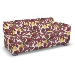Dekoria Pokrowiec na sofę 2-osobową jeden podłokietnik Mysinge, żółto-brązowe kwiaty, sofa Mysinge 2-os. jeden podłokietnik, Wyprzedaż do -30%