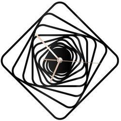 Zegar z pleksi na ścianę Kwadratowe spirale ze złotymi wskazówkami (5907509935992)