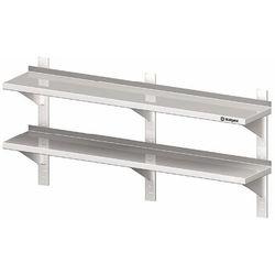 Półka wisząca przestawna podwójna 1600x300x660 mm   STALGAST, 981783160