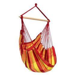 Fotel hamakowy, czerwono-żółty Brasil