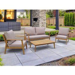 Vente-unique Salon ogrodowy amaria z drewna eukaliptusowego: 2-osobowa sofa, 2 fotele i ława