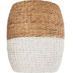 Pleciony stolik kawowy z trawy morskiej - Ø 35 cm, wys. 40 cm, kolor biały (3560234530461)
