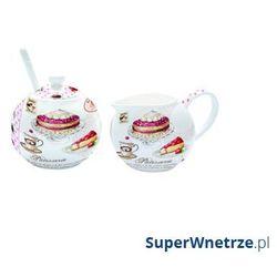 Nuova r2s Cukiernica z łyżeczką + mlecznik do kawy romantic ciasta