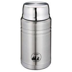 Cilio - monte - termos obiadowy ze składaną łyżką - 750 ml - stal szczotkowana (4017166545715)
