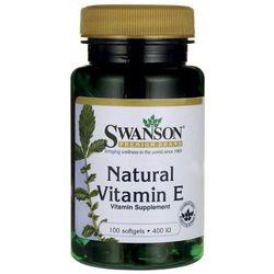 Witamina E naturalna 400IU 100kaps (lek witaminy i minerały)