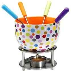 Zestaw do czekoladowego fondue  kolorowe kropki marki Mastrad