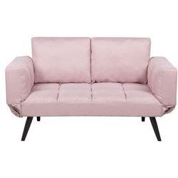 Sofa rozkładana tapicerowana różowa BREKKE (4251682207652)