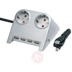 Przedłużacz listwowy desktop power z wejściem usb marki Brenenstuhl