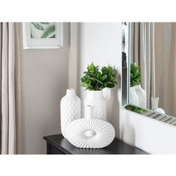 Dekoracyjny wazon na kwiaty biały xanthos marki Beliani