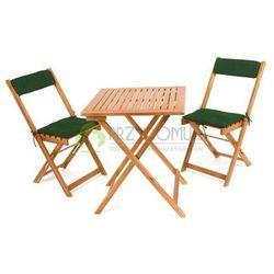 Stół z krzesłami zestaw mebli Paradise + poduszki