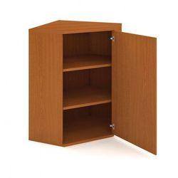 Szafka select narożna wewnętrzna z drzwiami, prawa, 800 x 400 x 1152 mm, buk marki B2b partner