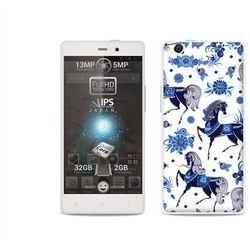 Fantastic case - allview x1 soul - etui na telefon fantastic case - folkowe niebieskie konie, marki Etuo.pl