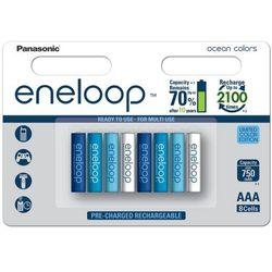 Panasonic Eneloop Ocean Colors AAA 750 mAh 2100 cykli 8szt. - edycja limitowana - produkt z kategorii- Akumulatory dedykowane