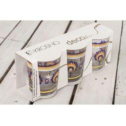 deco line szklanki dekorowane 250 ml 3 sztuki marki Krosno