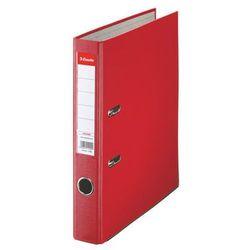 Esselte segregator a4 ekonomiczny z mechanizmem dźwigniowym 50mm, czerwony