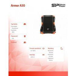 Dysk zewnętrzny  armor a30 hdd 2tb usb 3.0 czarny / pancerny / wstrząsoodporny (sp020tbphda30s3k) darmowy od