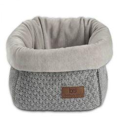 , robust light grey koszyk na przybory 17x20x14 cm, jasny szary marki Baby's only