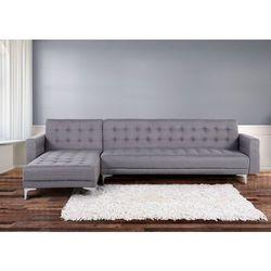 Sofa szara - kanapa - tapicerowana - rozkladana - naroznik - ABERDEEN - sprawdź w Beliani