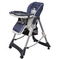 vidaXL Krzesełko do karmienia dla dzieci z regulacją wysokości, niebieskie