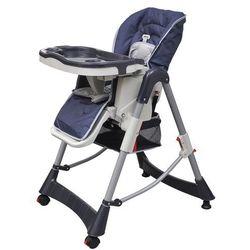 krzesełko do karmienia dla dzieci z regulacją wysokości, niebieskie od producenta Vidaxl